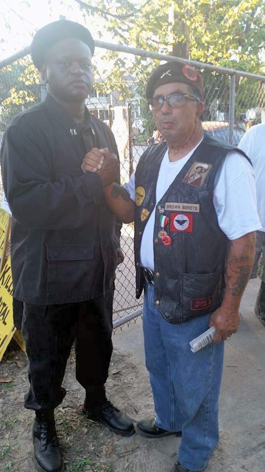 Prime Minister Victor San Miguel, (Carnalismo) with Minister of Defense, Vince (New Black Panther Party)